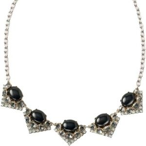 Stella & Dot Rory Black Necklace NEW IN BOX